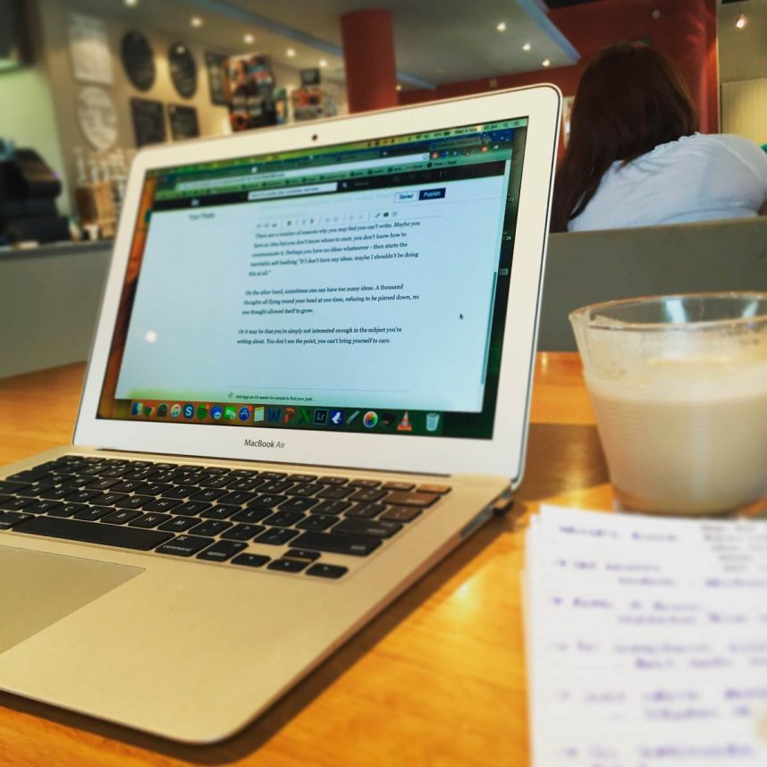 Beaumont Communications Lausanne - what do when writer's block hits